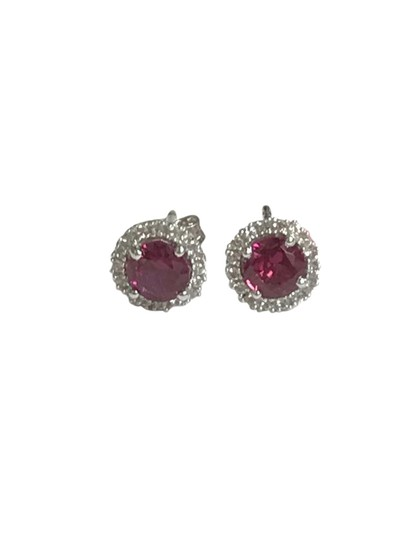 Preload https://img-static.tradesy.com/item/21548568/pink-sterling-silver-round-halo-stud-turmaline-and-cz-earrings-0-1-540-540.jpg