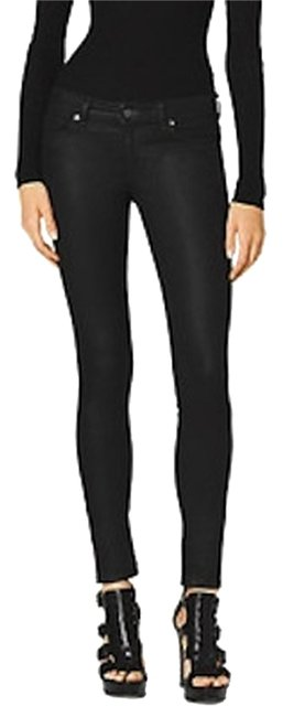 Michael Kors Waxed 98% Cotton Skinny Jeans Image 0