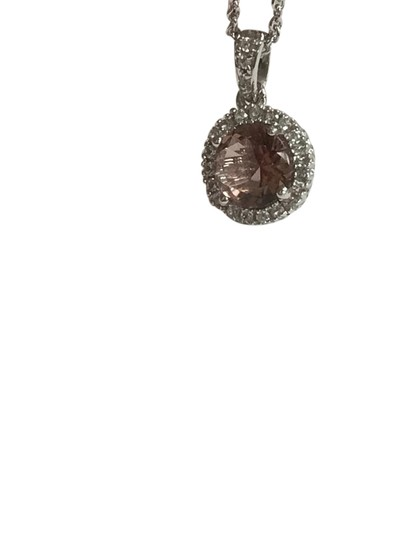 Preload https://item5.tradesy.com/images/pink-sterling-silver-round-halo-pendant-with-morganite-and-cz-necklace-21548659-0-1.jpg?width=440&height=440