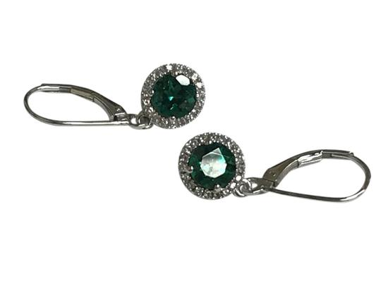 Preload https://item1.tradesy.com/images/green-sterling-silver-round-halo-drop-turmaline-and-cz-earrings-21548675-0-1.jpg?width=440&height=440