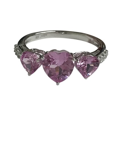 Preload https://item5.tradesy.com/images/sterling-silver-love-heart-pink-sapphire-and-cz-cocktail-ring-21548714-0-1.jpg?width=440&height=440