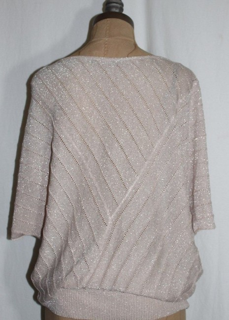 Matty M Sparkle Dolman Taupe Top pink