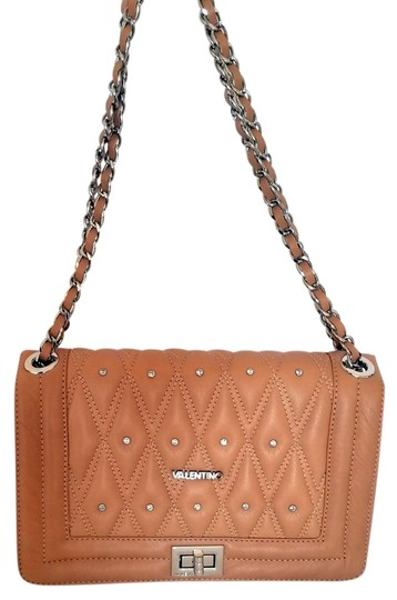 Mario Valentino Italian Leather Quilted Boy Shoulder Bag