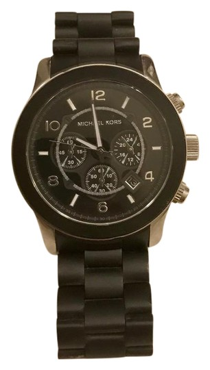 Preload https://item3.tradesy.com/images/michael-kors-runway-black-mk8107-polyurethane-silicone-chronograph-watch-21548847-0-1.jpg?width=440&height=440