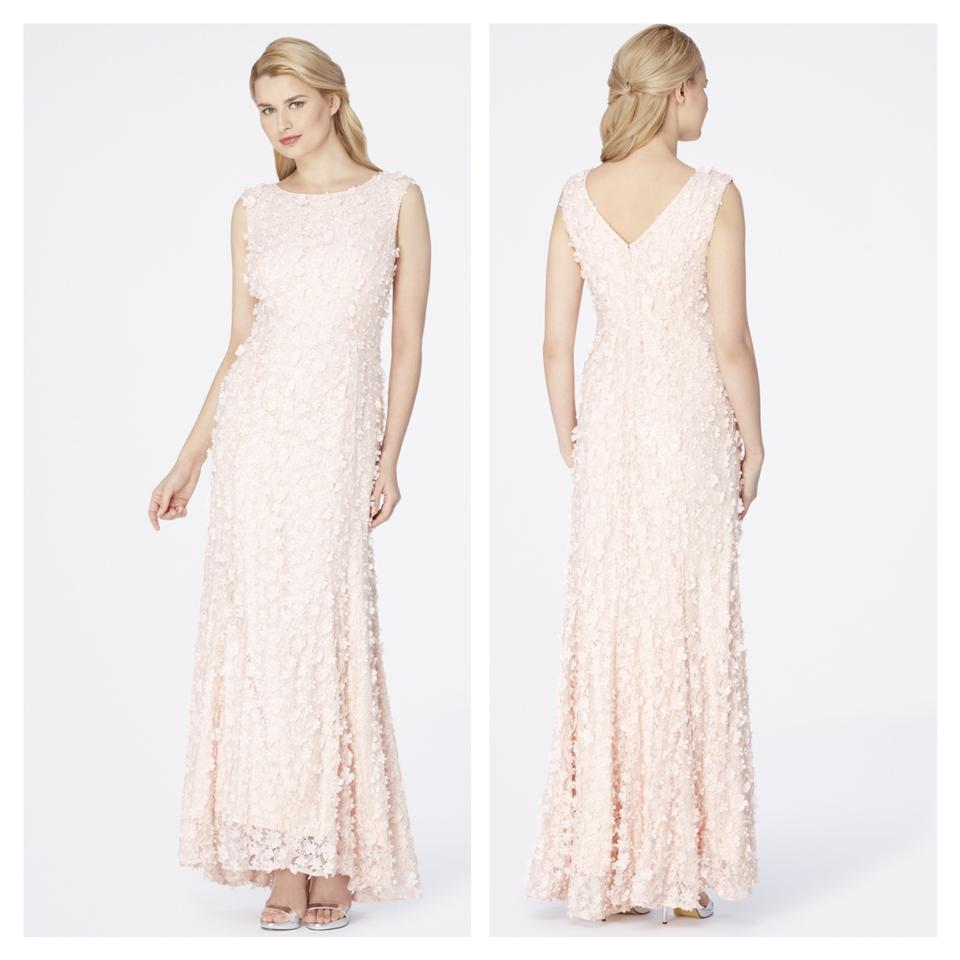 Tahari Blush Pink Faux Pearls Beaded Gown Long Formal Dress Size 2 ...