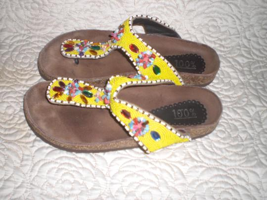 100% multi color Sandals