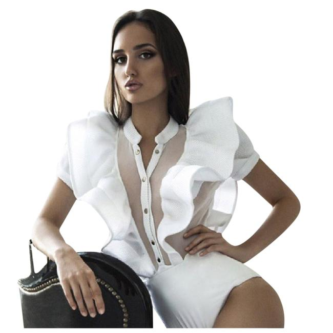 Preload https://item4.tradesy.com/images/white-dramatic-ruffle-bodysuit-small-medium-blouse-size-6-s-21549058-0-1.jpg?width=400&height=650