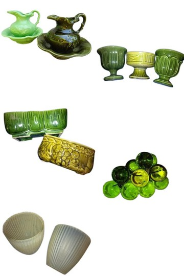 Preload https://img-static.tradesy.com/item/21549072/vintage-greens-mustard-yellows-centerpieces-or-candy-bar-reception-decoration-0-1-540-540.jpg
