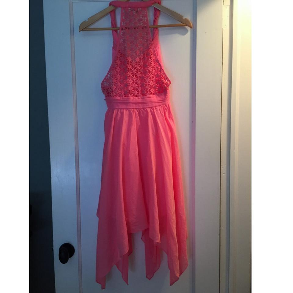 Guess Pink Gia Gypsy Mid Length Cocktail Dress Size 2 Xs Tradesy