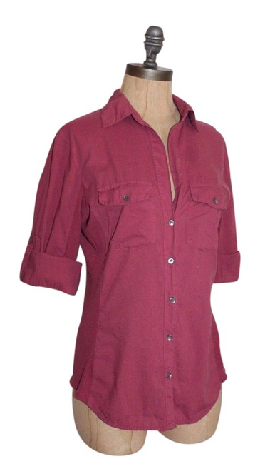 Preload https://item3.tradesy.com/images/james-perse-wildberry-2-contrast-panel-shirt-button-down-top-size-6-s-21549122-0-1.jpg?width=400&height=650