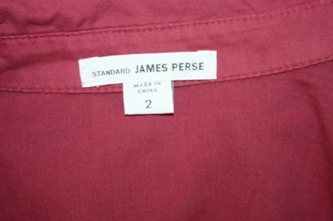 James Perse Bella Cotton Contrast Panel Button Down Shirt WILDBERRY