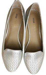 Sole Society Loafers Loafers Loafers Silver Flats