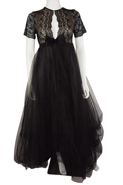 Preload https://item3.tradesy.com/images/lisa-nieves-lace-and-tulle-black-prom-tulle-gown-short-sleeve-formal-dress-size-6-s-21549217-0-1.jpg?width=400&height=650