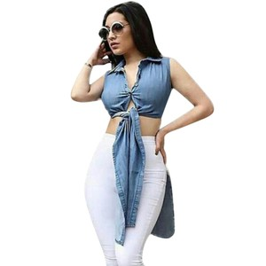 Queen Esther Etc Top Denim Blue