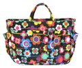 Other BRAND NEW Black Colorful Flower Design Small Purse Organizer Image 0