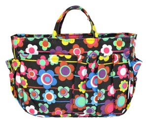 Other BRAND NEW Black Colorful Flower Design Small Purse Organizer