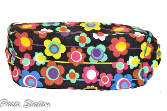 Other BRAND NEW Black Colorful Flower Design Small Purse Organizer Image 1
