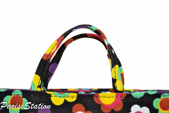 Other BRAND NEW Black Colorful Flower Design Small Purse Organizer Image 3