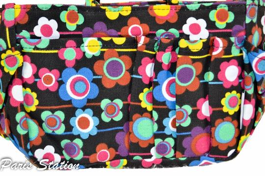 Other BRAND NEW Black Colorful Flower Design Small Purse Organizer Image 4