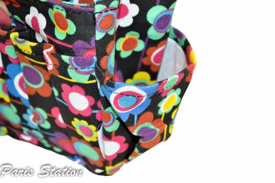 Other BRAND NEW Black Colorful Flower Design Small Purse Organizer Image 8