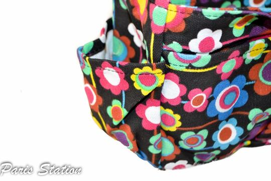 Other BRAND NEW Black Colorful Flower Design Small Purse Organizer Image 9