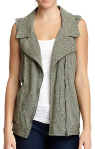 UNIONBAY Confetti Knit Biker Zip Up Vest