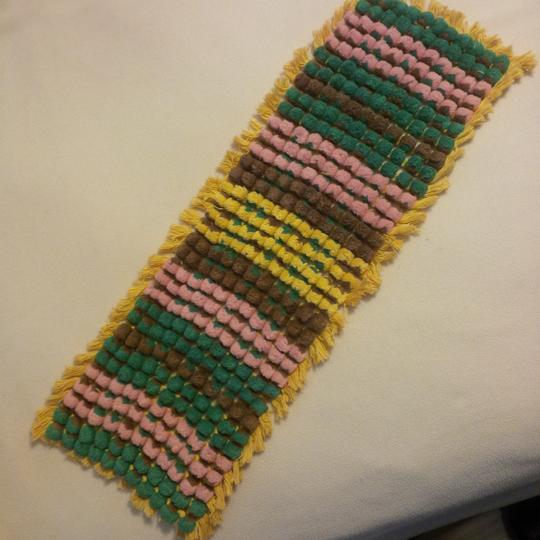 Preload https://item3.tradesy.com/images/green-yellow-pink-brown-unique-pom-pom-runner-reception-decoration-21549362-0-0.jpg?width=440&height=440
