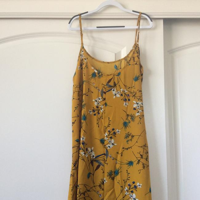 Mustard Yellow with print Maxi Dress by SheIn