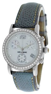 Montblanc Ladies Montblanc Meisterstuck 7039 Chrono Diamonds MOP Quartz Watch