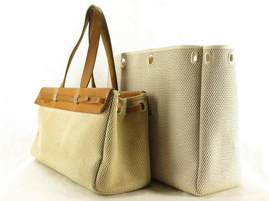 Hermès Her Canvas Cabas Fourre Tote in natural x brown