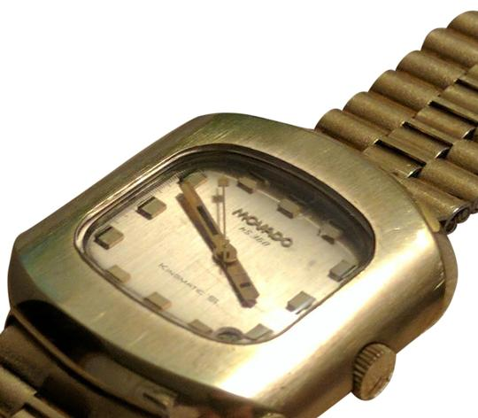 Movado Gold Pre Quartz Movado Kingmatic S Highbeat with original gold bracelet