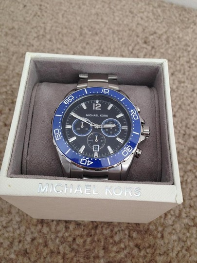 Michael Kors Clearance-SALE NWT men's Windward Chronograph Black dial watch MK8422