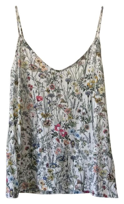 Preload https://item4.tradesy.com/images/h-and-m-white-with-floral-design-tank-topcami-size-2-xs-21549813-0-1.jpg?width=400&height=650