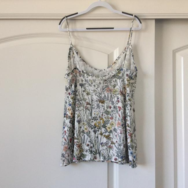 H&M Top white with floral design