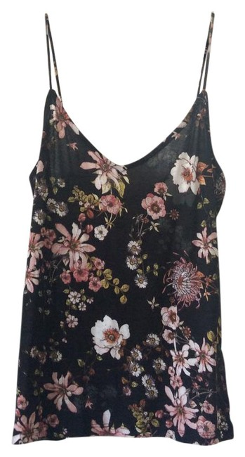 Preload https://item1.tradesy.com/images/h-and-m-black-with-floral-design-tank-topcami-size-2-xs-21549815-0-1.jpg?width=400&height=650