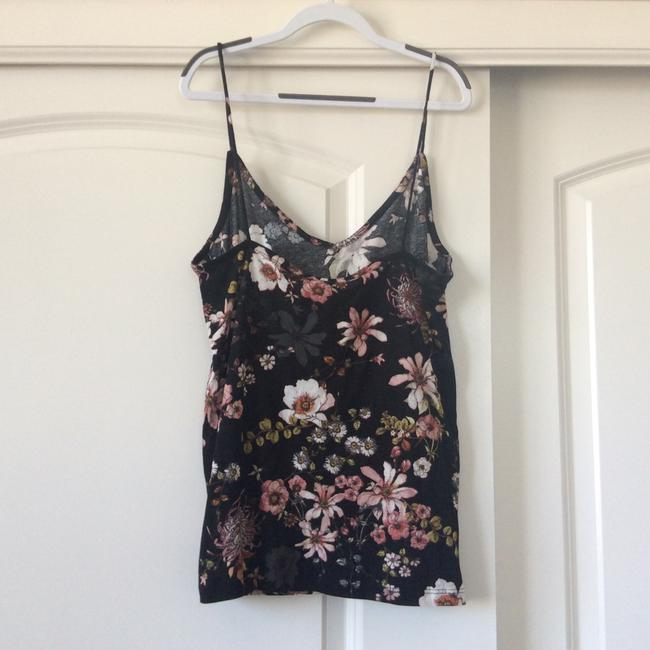 H&M Top black with floral design