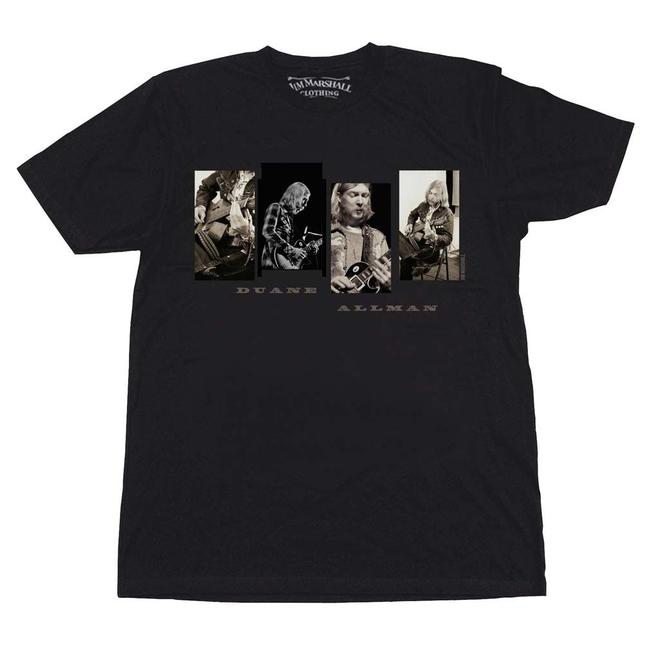Jim Marshall Clothing The Treasured Hippie Music Boho Band Memorabilia Duane Allman T Shirt Black