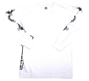 f3a9043d0e56 Chrome Hearts Skull Longsleeve Graphic Logo T Shirt White