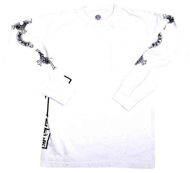 Preload https://img-static.tradesy.com/item/21549927/chrome-hearts-white-small-s-womens-skull-long-sleeve-graphic-tee-shirt-size-6-s-0-1-650-650.jpg
