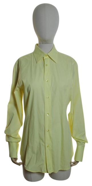 Preload https://img-static.tradesy.com/item/21549977/hugo-boss-yellow-cotton-tunic-shirt-blouse-button-down-top-size-6-s-0-1-650-650.jpg
