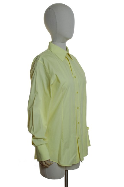 Hugo Boss Woven Solid Longsleeve Button Down Shirt Yellow