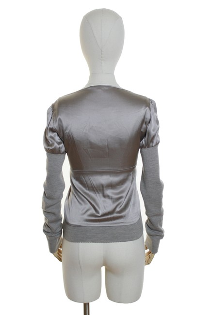 Vanessa Bruno Woven Knit Long Sleeve Solid Top Beige