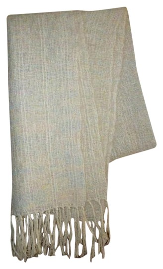 Other Womens Vintage Pastel Colors Handwoven Wool Shawl or Large Scarf Country Ell