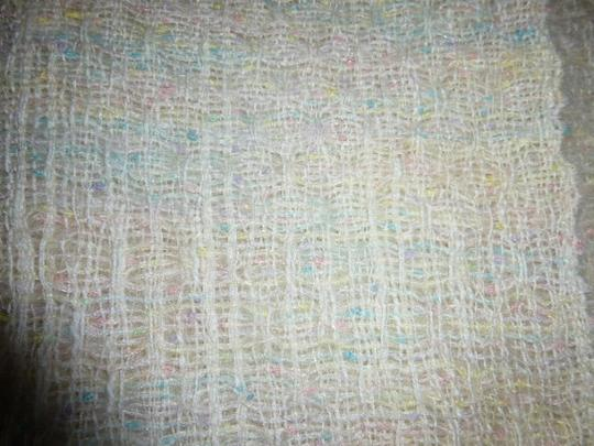 Other Womens Vintage Pastel Colors Handwoven Wool Shawl or Large Scarf Country Ell Image 1