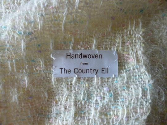 Other Womens Vintage Pastel Colors Handwoven Wool Shawl or Large Scarf Country Ell Image 4
