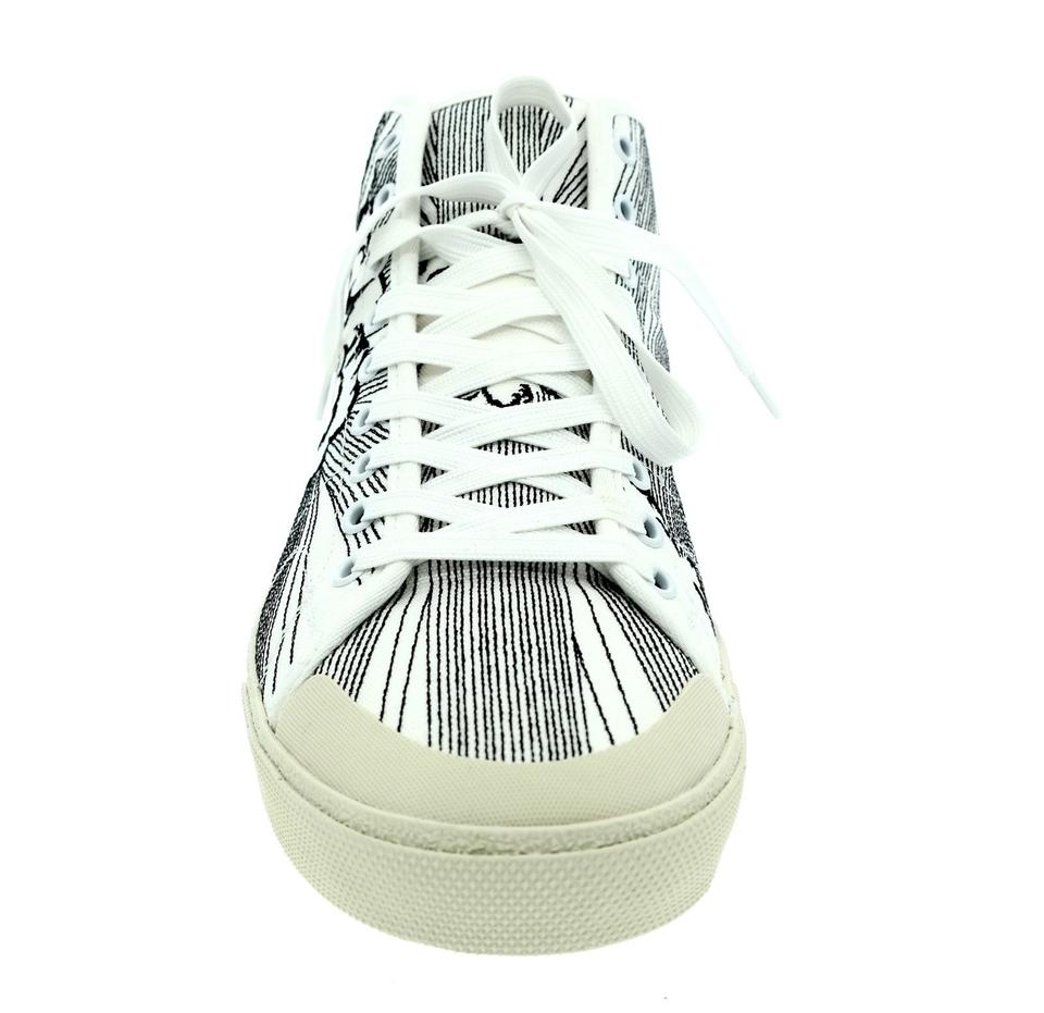 3af68ebbfd46 Saint Laurent Men  39 s Surf Bang High Top White Athletic Shoes on Sale