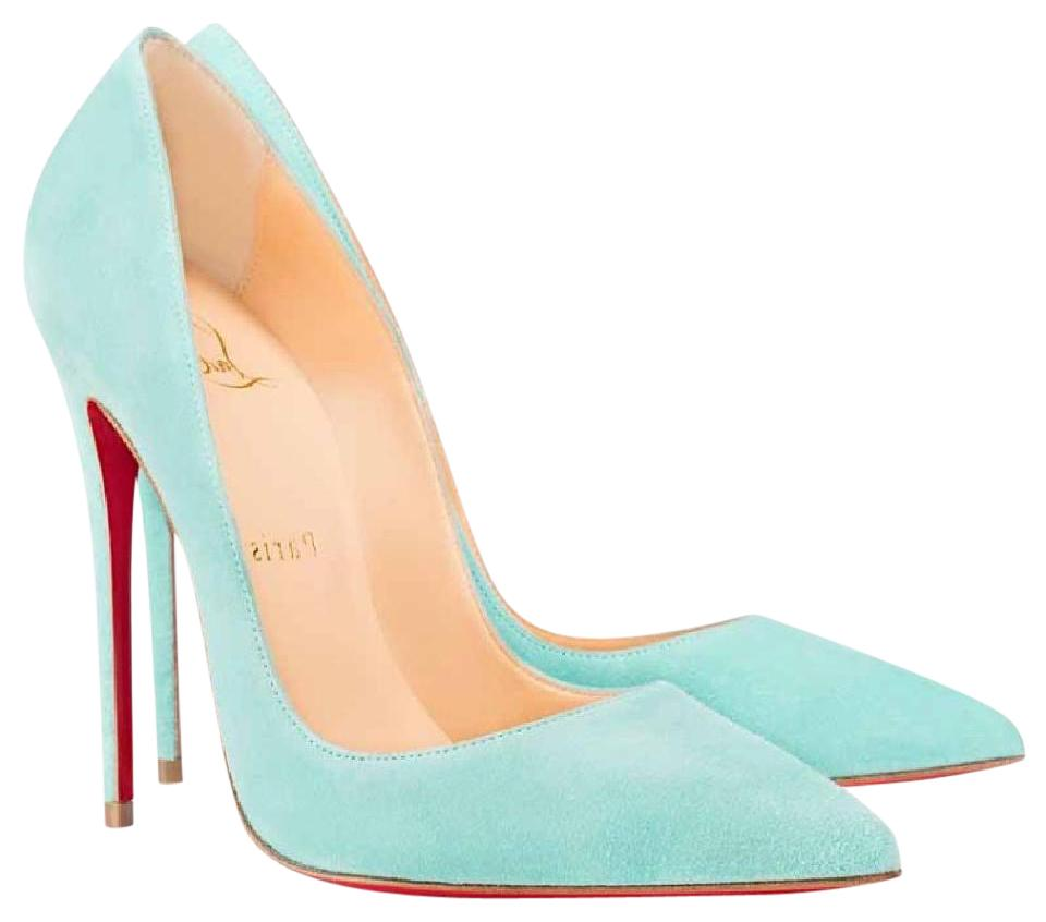 84bfb6aea93 Christian Louboutin Blue So Kate Source Suede Pale Stiletto Pumps ...