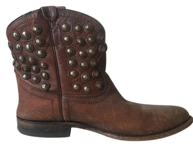 """Item - Brown Wyatt Disc"""" Leather Boots/Booties Size US 9.5 Narrow (Aa, N)"""