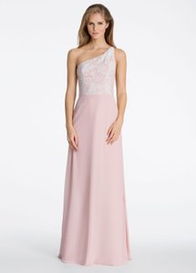 Hayley Paige Collections Ivory Tuileries Over Rose Chiffon 5606 Bridesmaid/Mob Dress Size 12 (L)