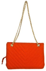 Chanel Terry Cloth Chevron Shoulder Bag